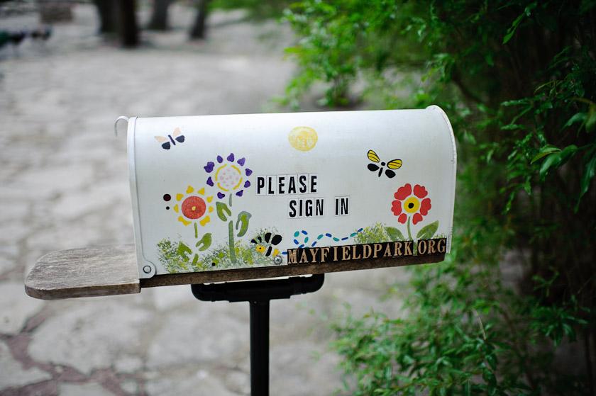 mayfield park mailbox
