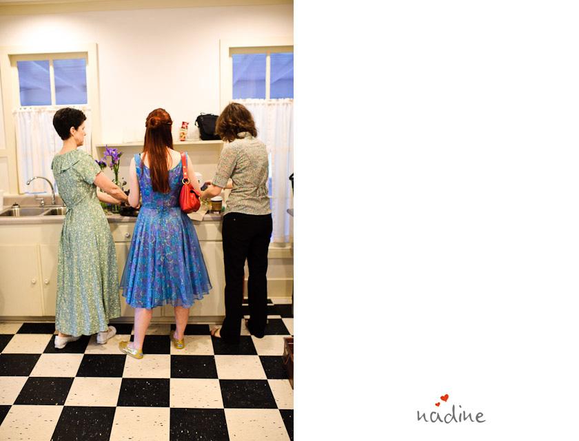 three ladies at the kitchen