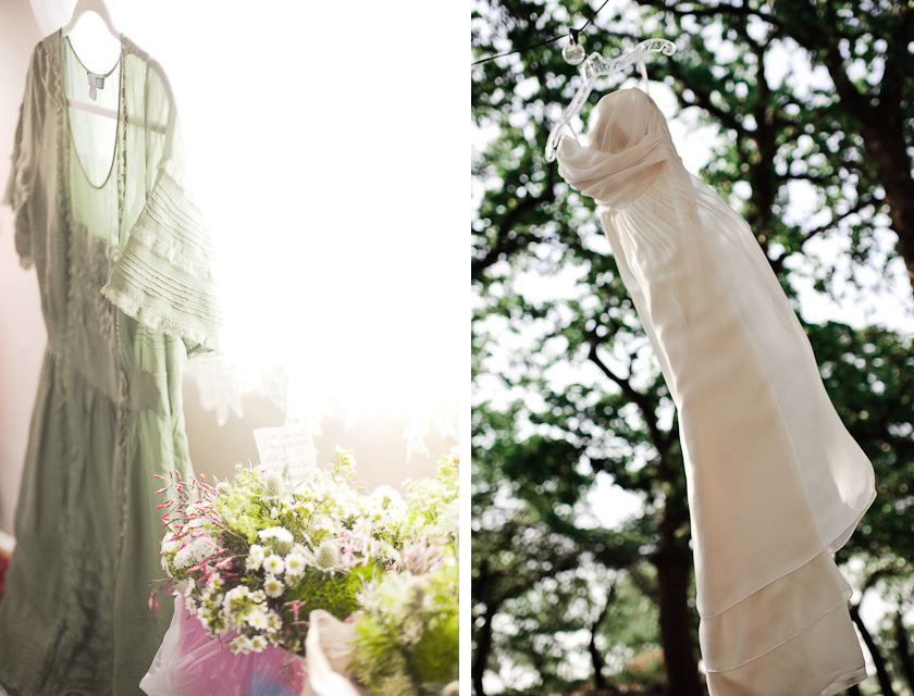 wedding and bridesmaid dress