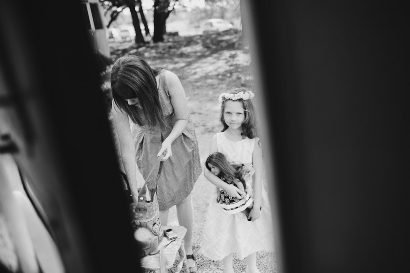 flower girl just outside door