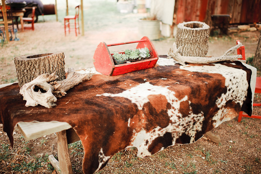 country ranch wedding details