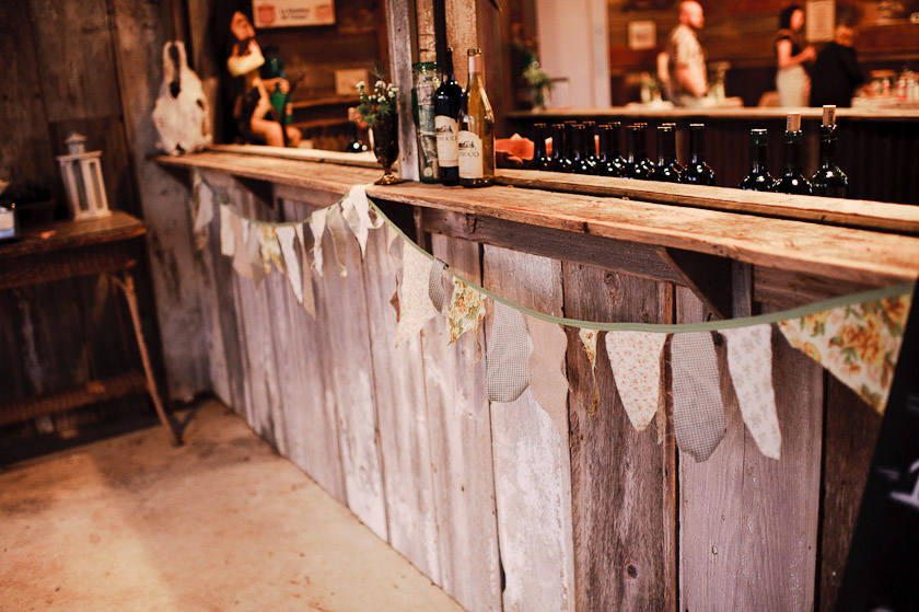 the bar and vintage pennants