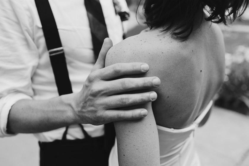 wedding photographers   black and white close up