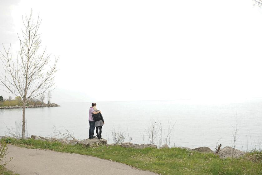 couple looking into ocean