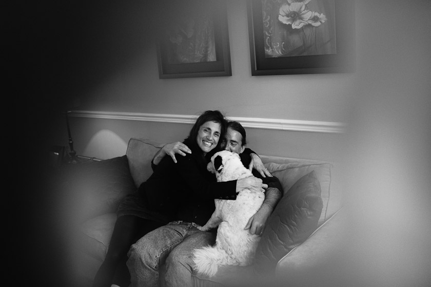 a couple and their dog in toronto, canada