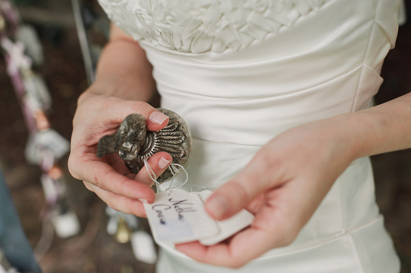 bride holding bell