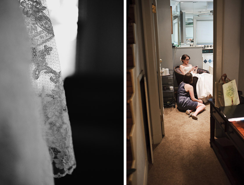 during bride getting ready