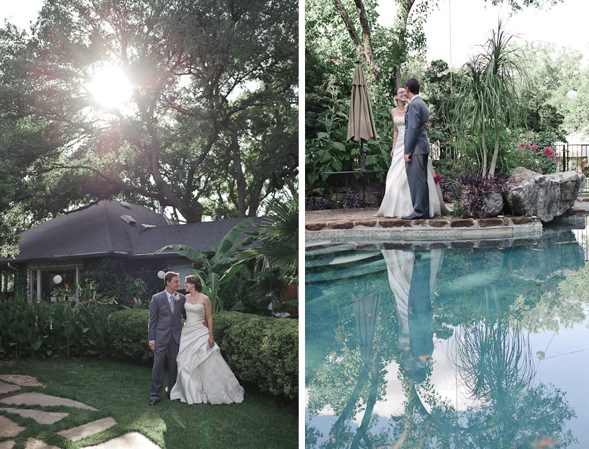 bride and groom portraits at hummingbird house