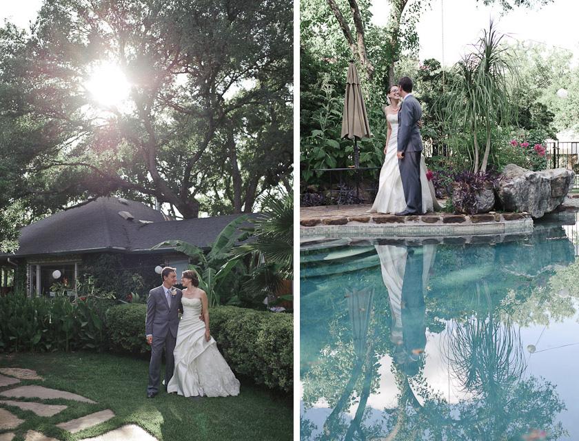 bride and groom portraits at hummingbird house