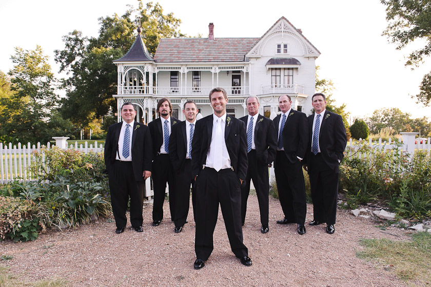 band picture of groom and groomsmen