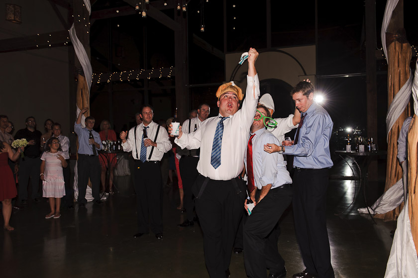 epic groomsman catching the garter