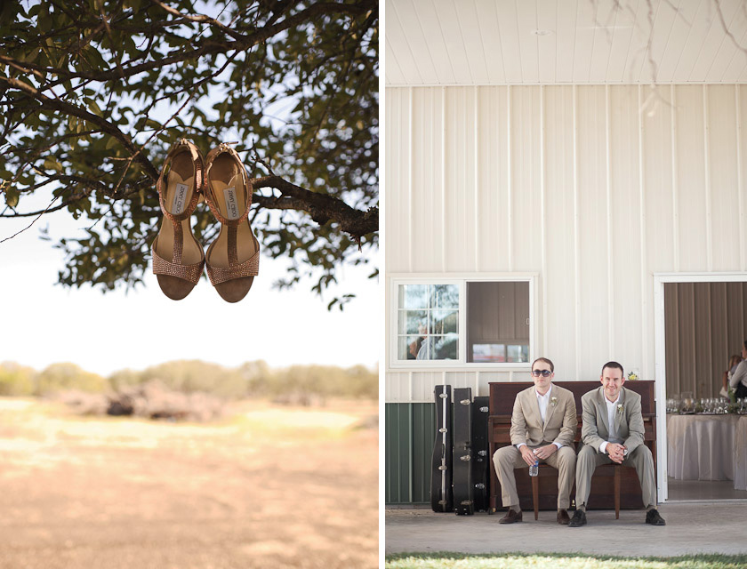 shoe shot and groomsmen