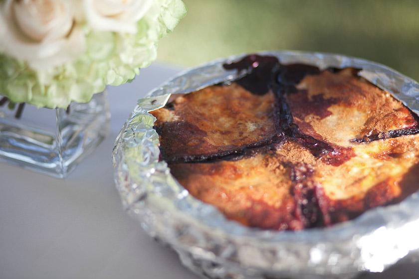 delicious blueberry pie