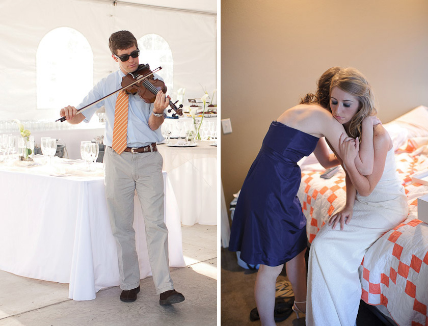 musicians at the wedding
