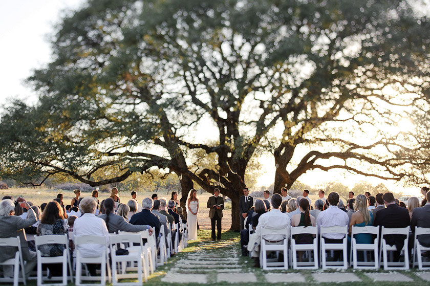 ceremony at sunset