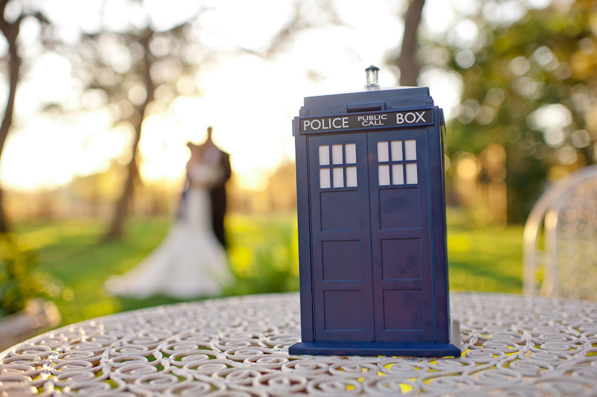 tardis box during a wedding