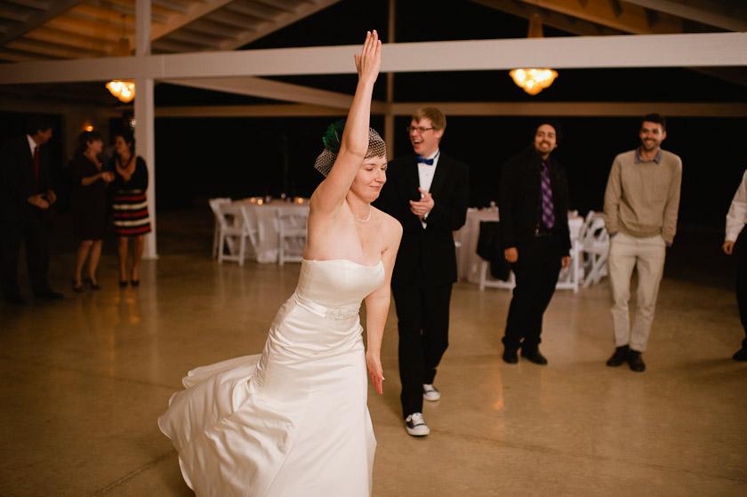 dancing running man at the reception