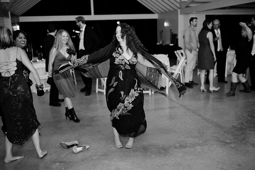 twirling during a reception
