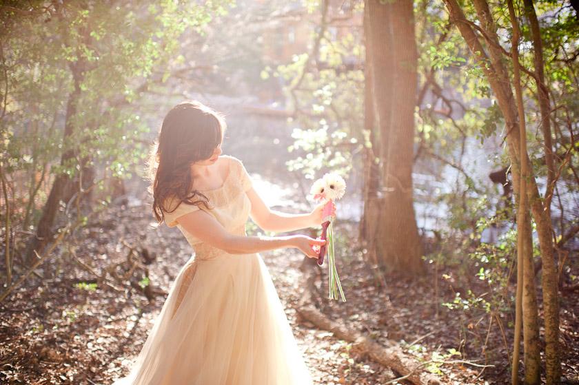 bride painting flower