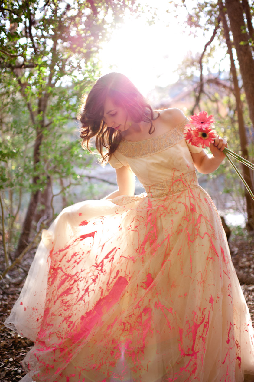 Austin Wedding Photographers Trash The Dress With Paint