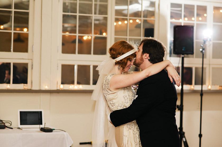 night time wedding reception