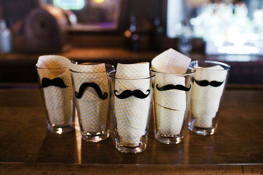 mustache glasses as groomsmen gift