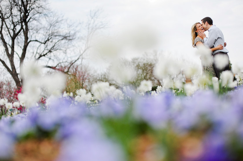 winter engagement session in texas