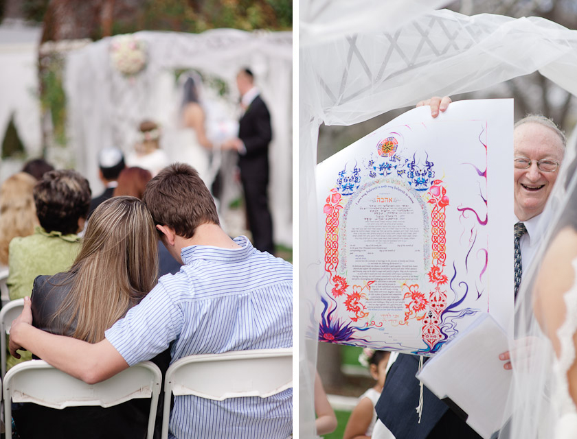 the wedding contract in a Jewish wedding