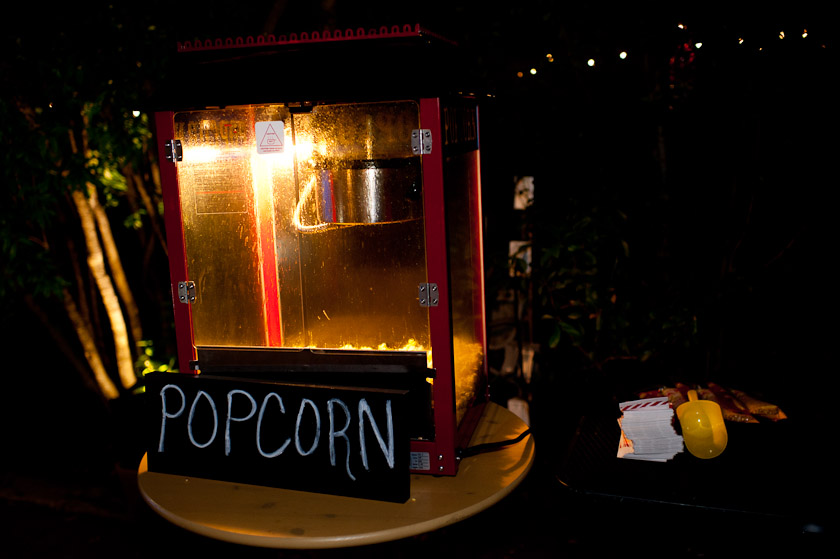 popcorn during the wedding