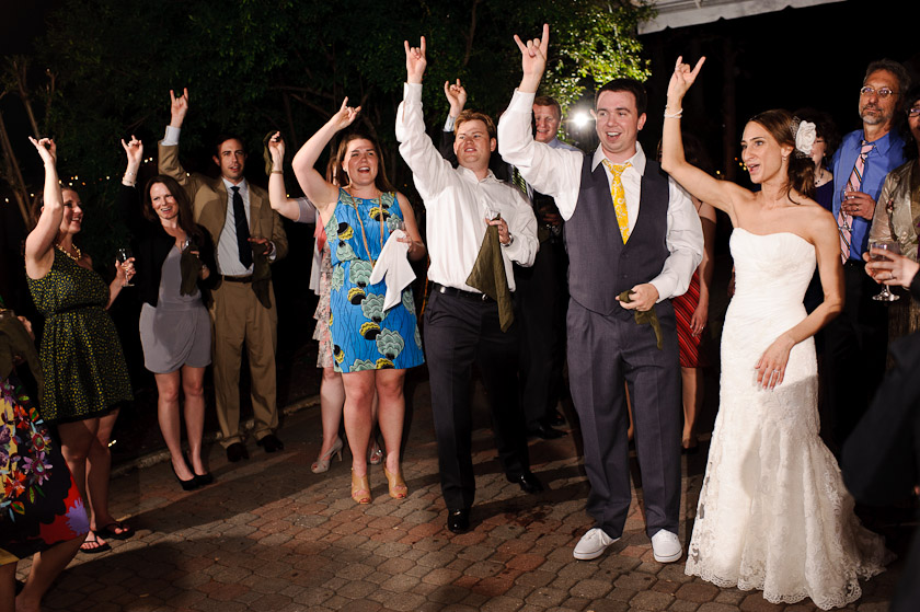 the UT song or battle hymn during the reception