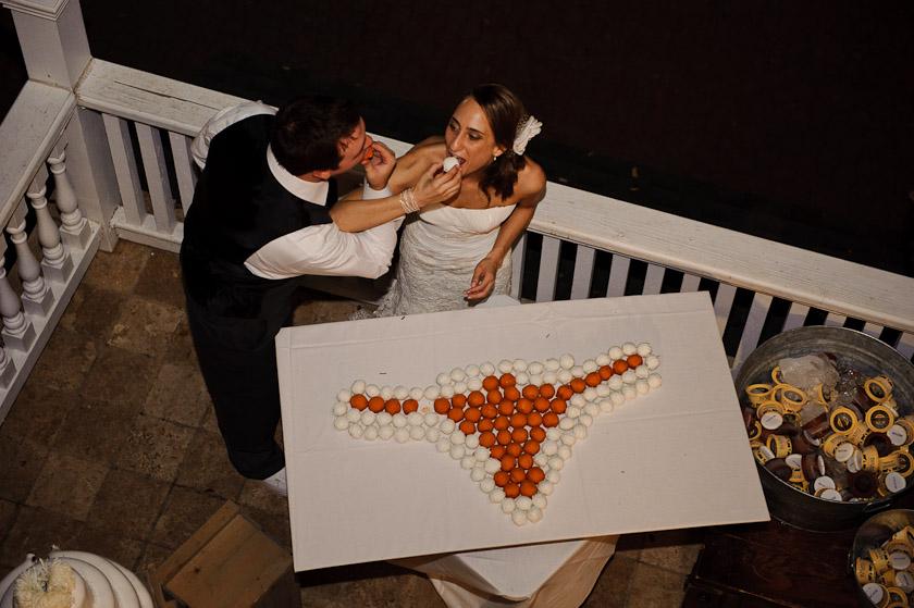 UT cakeball or longhorn wedding cake