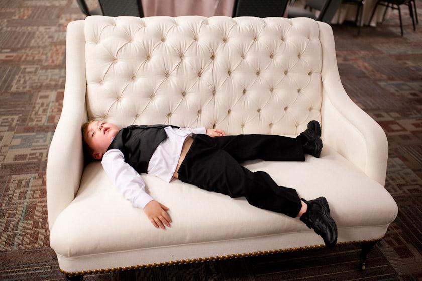 a boy tired