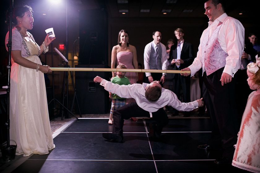 during the reception, the limbo