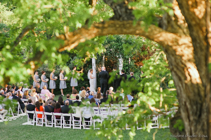 a ceremony at the barr mansion by austin wedding photographer