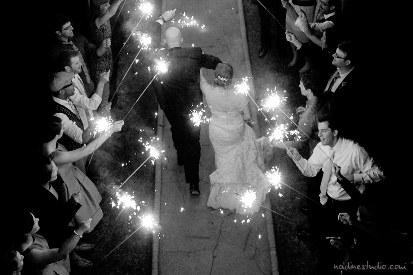sparkler exit at barr mansion