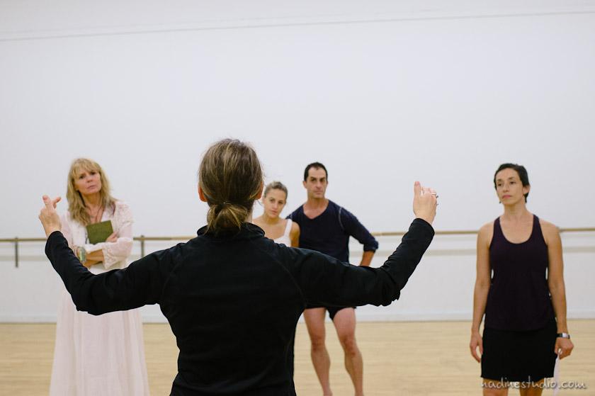 choreographer giving instructions