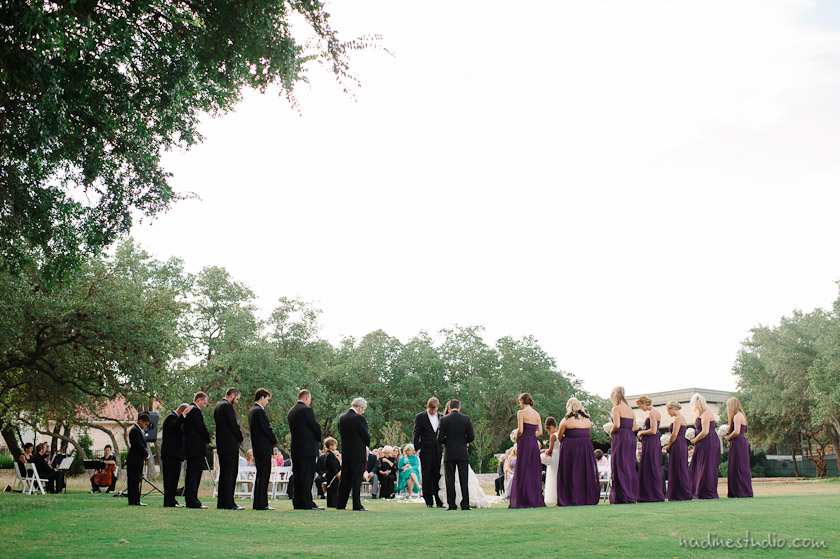 ceremony at the hills of lakeway country club
