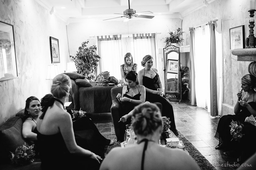 bridesmaid getting ready