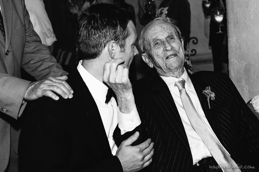 groom and his grandfather