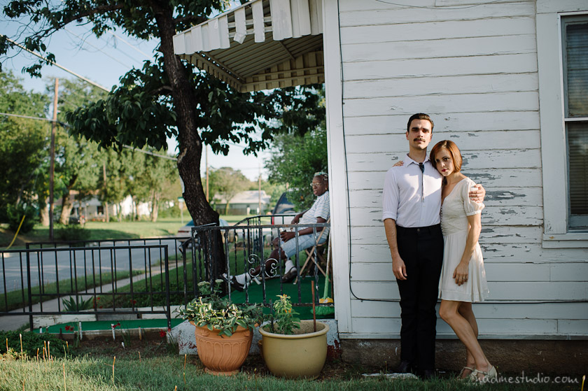 eclectic couple in east side austin