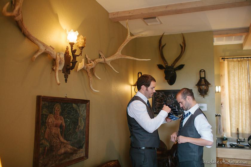 groomsmen getting ready in austin wedding