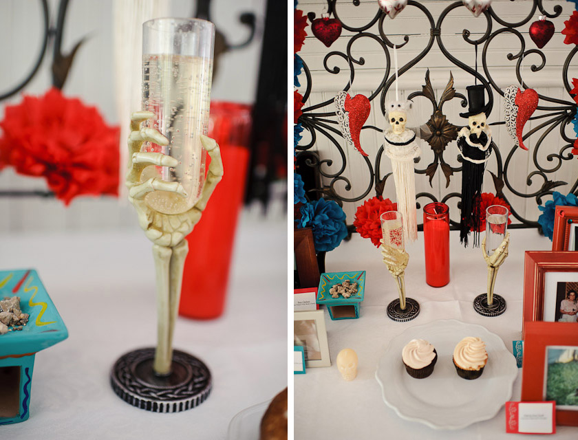 skulls and skeleton champagne