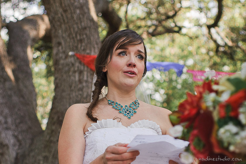 bride crying during vows