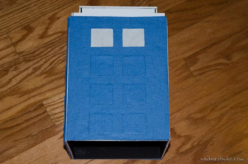 Tardis Card Box Tutorial Diy Tardis Model Plans Austin