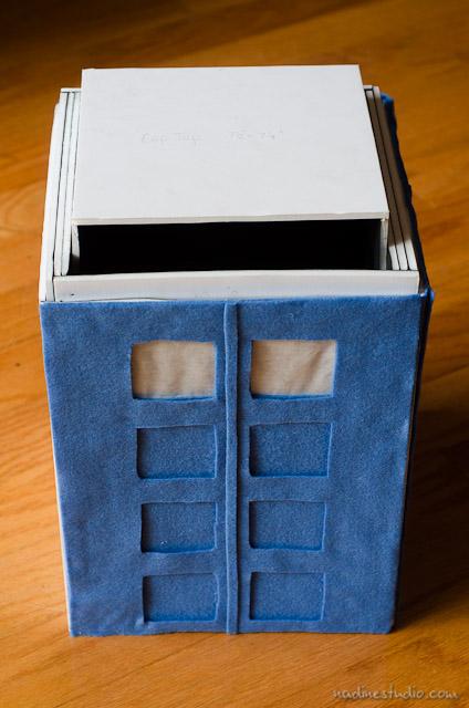 TARDIS card box tutorial diy | TARDIS model plans | austin wedding photographers