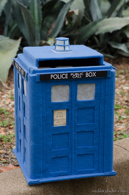 Tardis Card Box Tutorial Diy Tardis Model Plans Austin Wedding