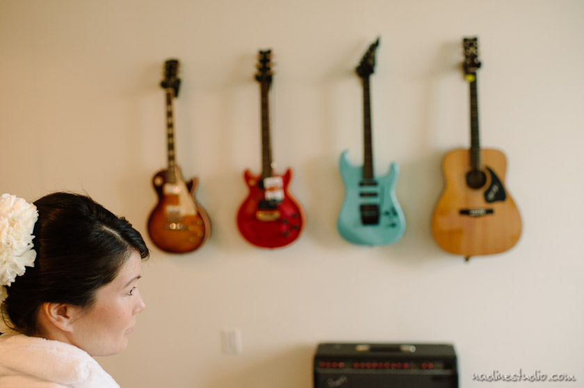 bride and guitars