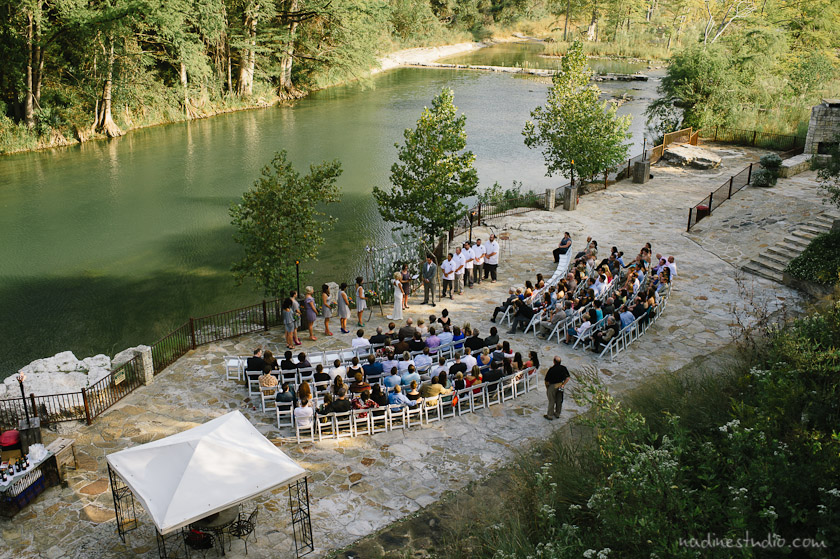 view from the top of a wedding