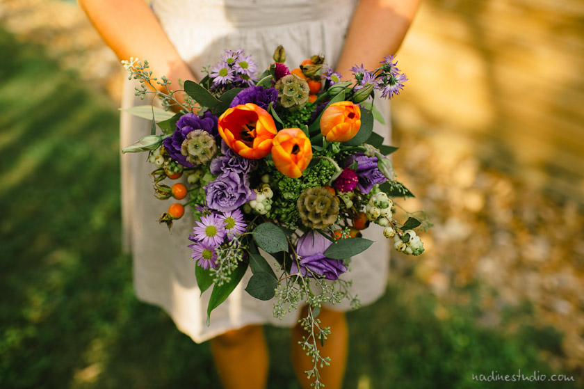 colorful bouquet for a bridesmaid