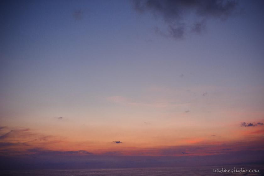 beautiful cloudy sunset in costa rica